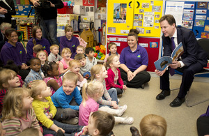 Nick Clegg at Kent nursery