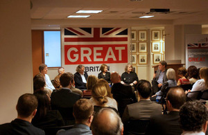 Panel pictured above, from left, Cliff Brown, Founder and Principal of The Brown Group, PR Specialist;, Karin-Beate Phillips, Founder/Director, British European Design Group; Jonathan Wimpenny, President, Royal Institute of British Architects ; Christine