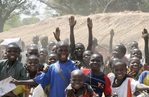 Photograph of children celebrating in Central African Republic