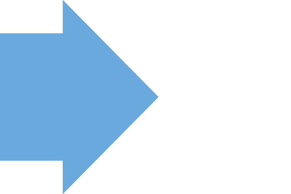 A blue arrow