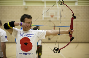 Archery at the Battle Back Centre in Lilleshall