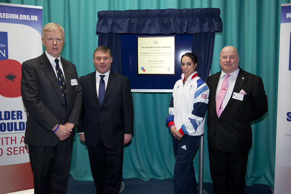 The official opening of the Battle Back Centre (Lilleshall)