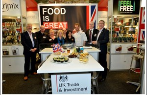Food is GREAT Britain stand
