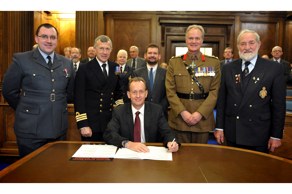 The signing of the Barnsley Armed Forces Community Covenant