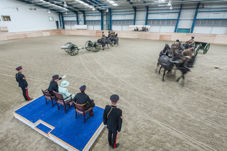 The King's Troop Royal Horse Artillery demonstrate the Musical Drive