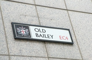 City of London Old Bailey street sign