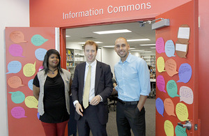 Matthew Hancock MP visits the Stella and Charles Guttman Community College.