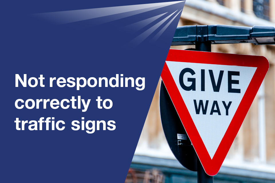 Not responding correctly to traffic signs