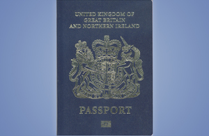Blue passport.