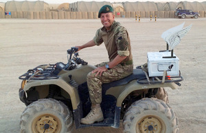 Reverend Stuart Hallam astride his 'God Quad' [Picture: Crown copyright]