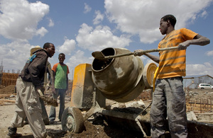 Construction workers in Ethiopia. Picture: Simon Davis/DFID