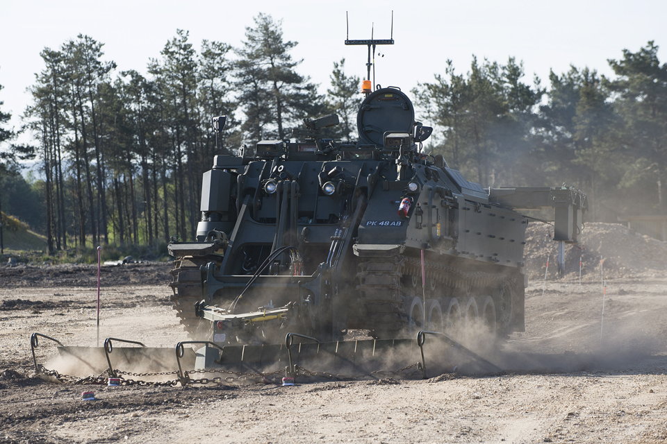 The Terrier - a tracked, armoured engineer vehicle