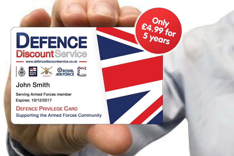 The Defence Discount Service Privilege Card