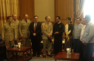 Meeting with Speaker of the Lower House Thura Shwe Man and opposition Leader NLD Chairman Aung San Suu Kyi