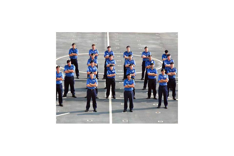 Mine Countermeasures Squadron personnel