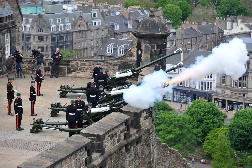 Members of 7 (Sphinx) Commando Battery Royal Artillery