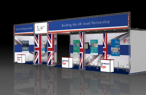 British Embassy booth at BioMed 2013