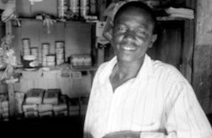A Kenyan shopkeeper