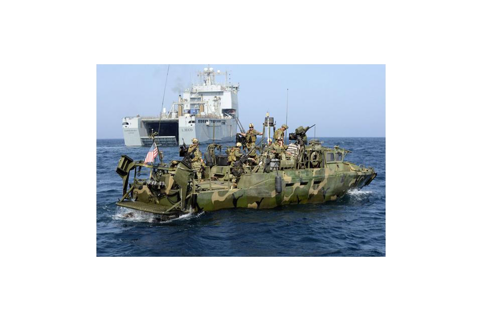 A US Riverine combat boat
