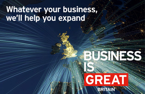 Business is GREAT campaign image of the United Kingdom