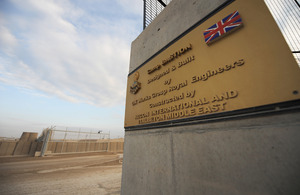 The entrance way to Camp Bastion in Helmand, Afghanistan (library image) [Picture: Corporal Steve Blake, Crown copyright]