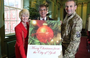 Lord and Lady Mayoress of York and Major Tony Barry