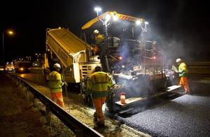 resurfacing a road