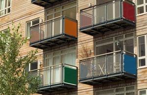 colourful balconies.