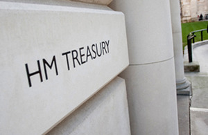 An image of the Treasury sign.