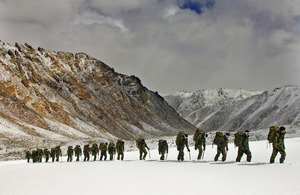Royal Marines specialist mountain leaders guide a commando company through the Himalayan mountain range in India (library image) [Picture: Petty Officer (Photographer) Dave Husbands, Crown copyright]