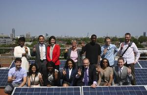 Secretary of State Edward Davey and Minister of State Greg Barker visiting the launch of the Brixton Energy Solar 3 project to launch the new Community Energy Strategy Call for Evidence