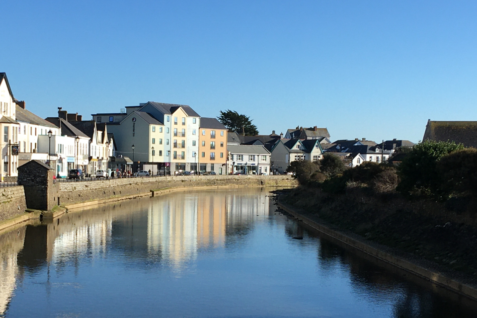 The River Neet as it flows through the town