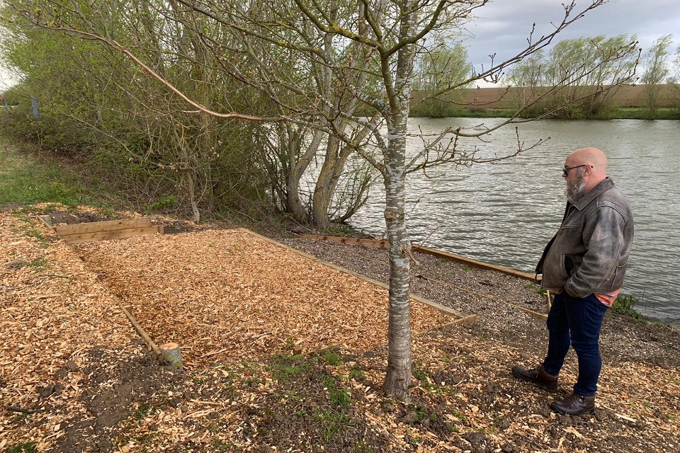 One of the fishing platforms created with iCarp at Lifted Lakes near Harwich.