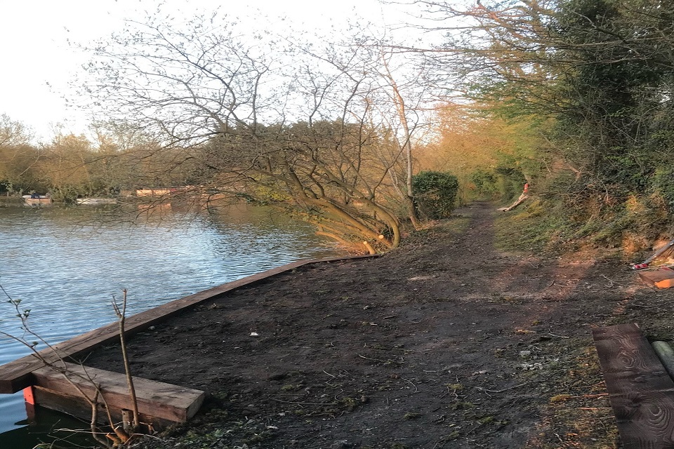 Another fishing bank the Environment Agency stablised
