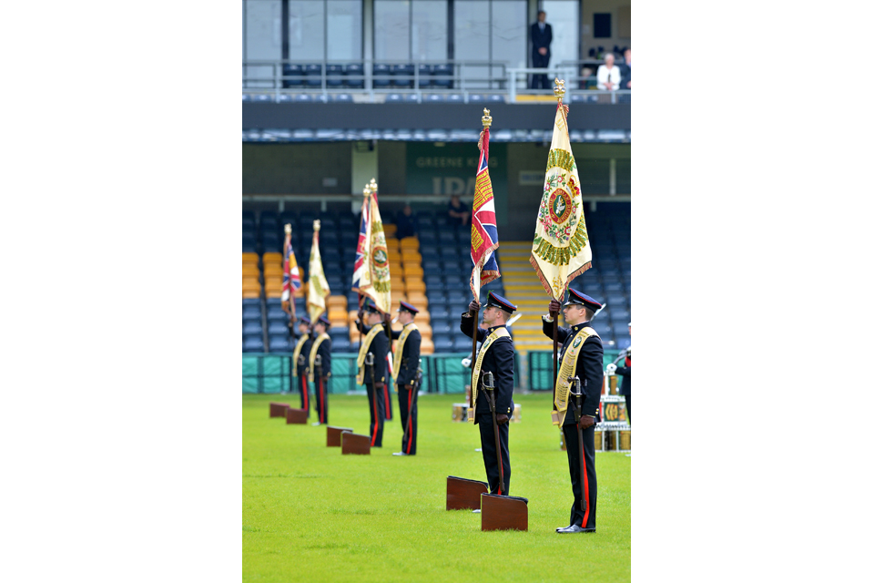 New Colours of the Mercian Regiment's battalions