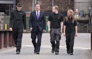 The Prime Minister visits the Cameronbridge Distillery in Fife. Photo:  Crown copyright.