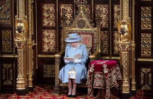The Queen delivering her 2021 speech