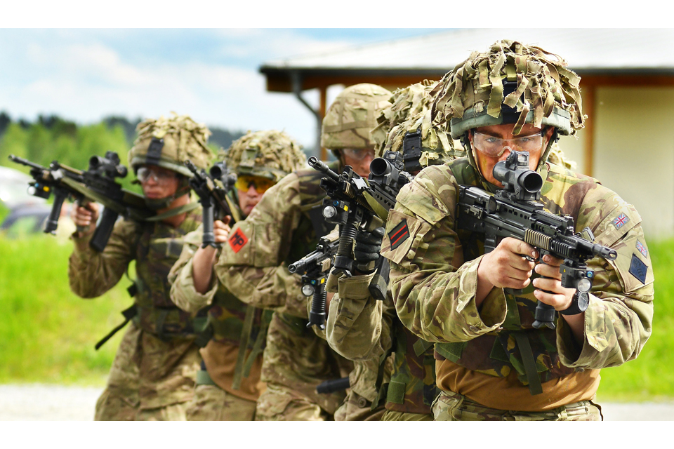 Soldiers from 2nd Battalion The Rifles
