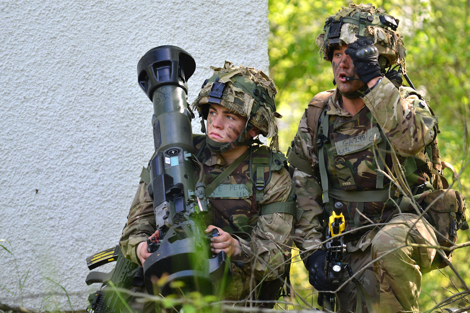 Soldiers from 1st Battalion The Princess of Wales's Royal Regiment