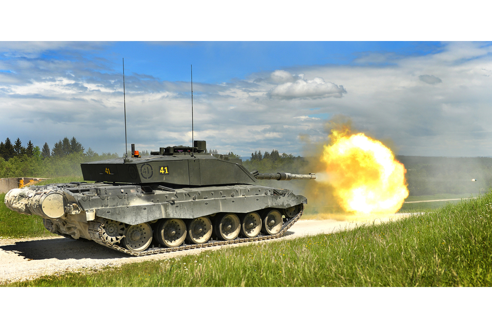 A British Challenger 2 main battle tank