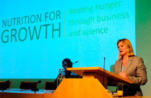 Photograph of Development Secretary Justine Greening