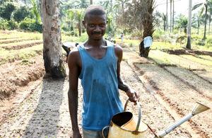 Photograph of an African farmer