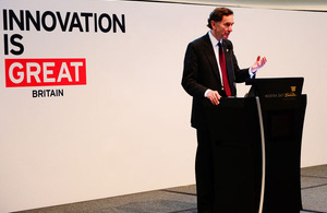 Lord Green at the inaugural UK Innovation, Design & Technology Forum at the ArtScience Museum
