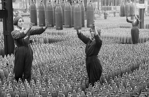 Women at a munitions factory in the First World War