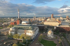 Birmingham cityscape.