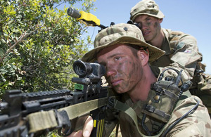 Riflemen on Exercise Lion Star 3 in Cyprus [Picture: Crown copyright]