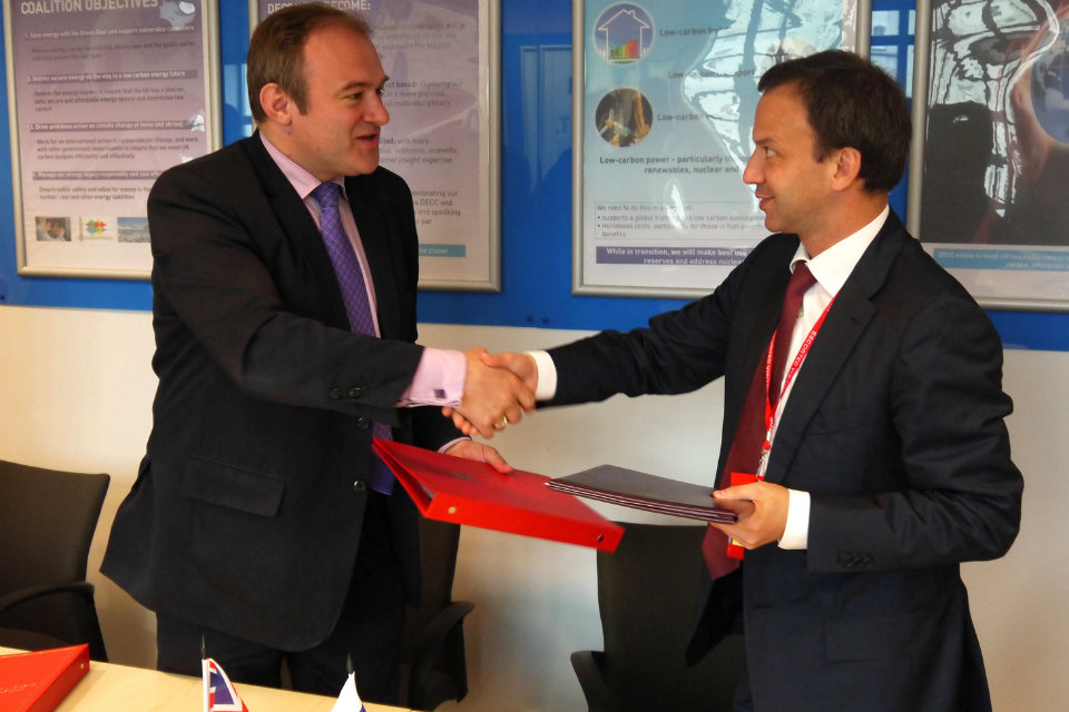 Edward Davey with Deputy Prime Minister of the Russian Federation, A. Dvorkovich