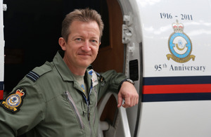 Flight Lieutenant Andy Robins, a BAe 125 pilot with 32 (The Royal) Squadron [Picture: Squadron Leader Dylan Eklund, Crown copyright]