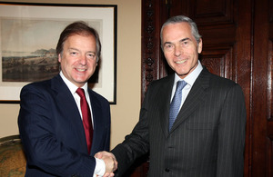 Minister for Latin America Mr. Hugo Swire MP and Chilean Minister of Defence Mr. Óscar Izurieta