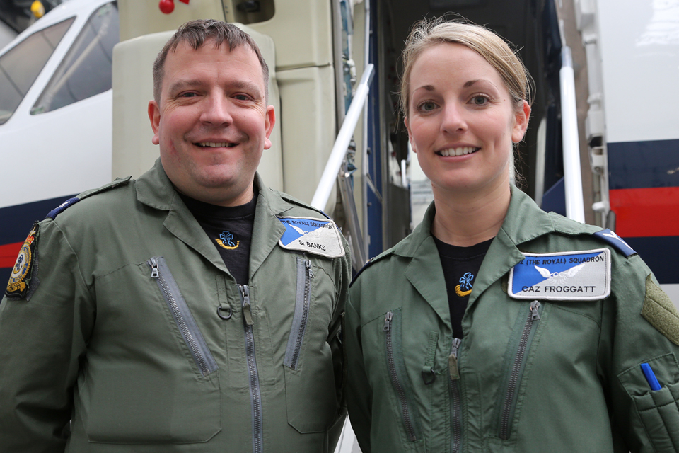 Corporal Si Banks and Senior Aircraftwoman Caz Froggatt